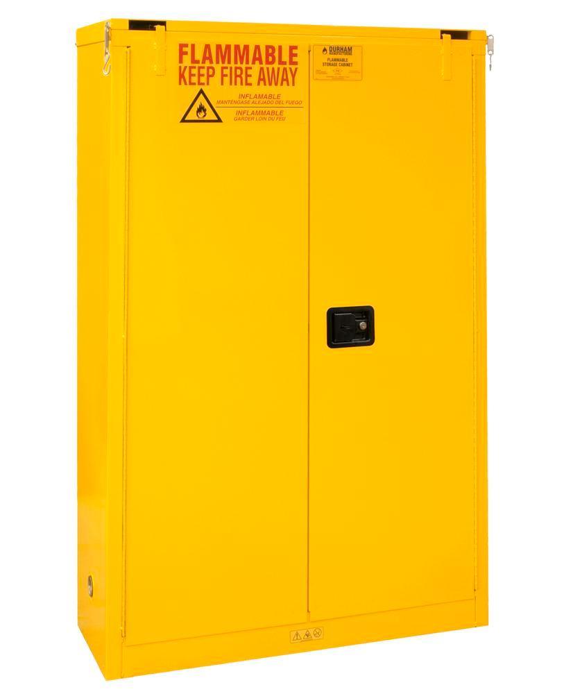 Armoire de sécurité certifiée FM, 2 étagères, fermeture automatique L 1092