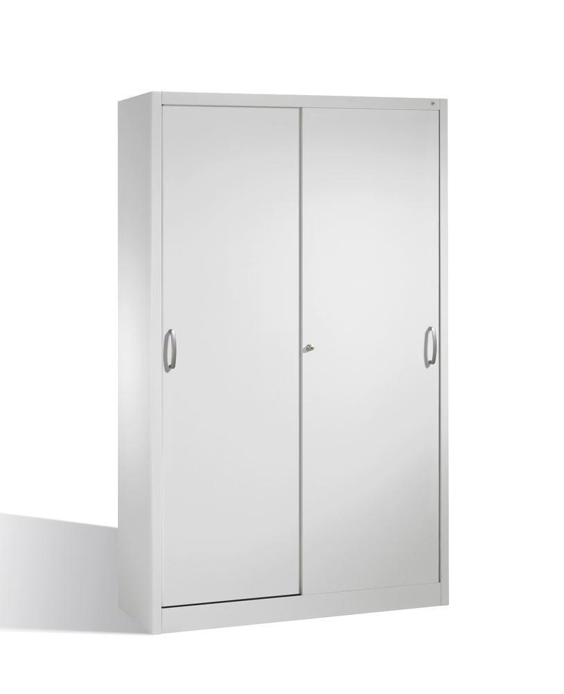Armoire avec portes coulissantes, 4 étagères amovibles