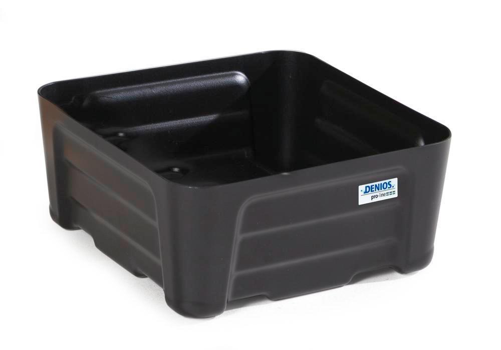 Bac de rétention pour bidons pro-line, en polyéthylène (PE), sans caillebotis, 24 litres