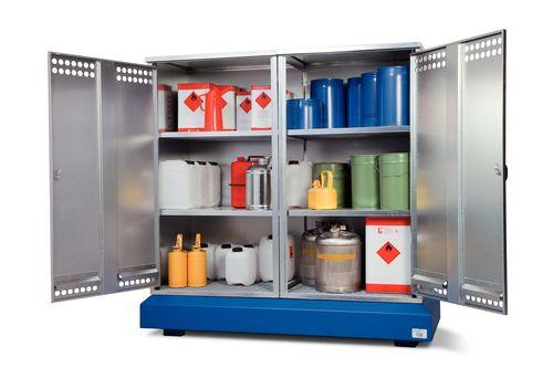 Armoire de stockage sur rétention, avec 4 étagères