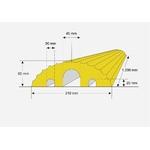 petit-passage-de-cables-jaune-caoutchouc-recycle-avec-3-canaux-pour-cable-2-e02e