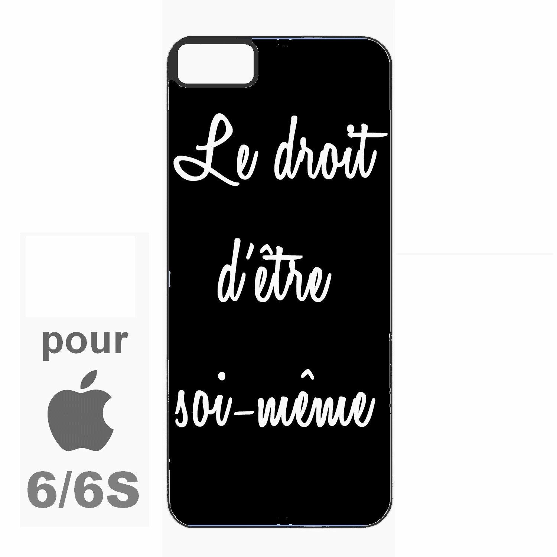 Coque Bords Silicone Pour Iphone 6 Et 6s Citation Noir Et Blanc