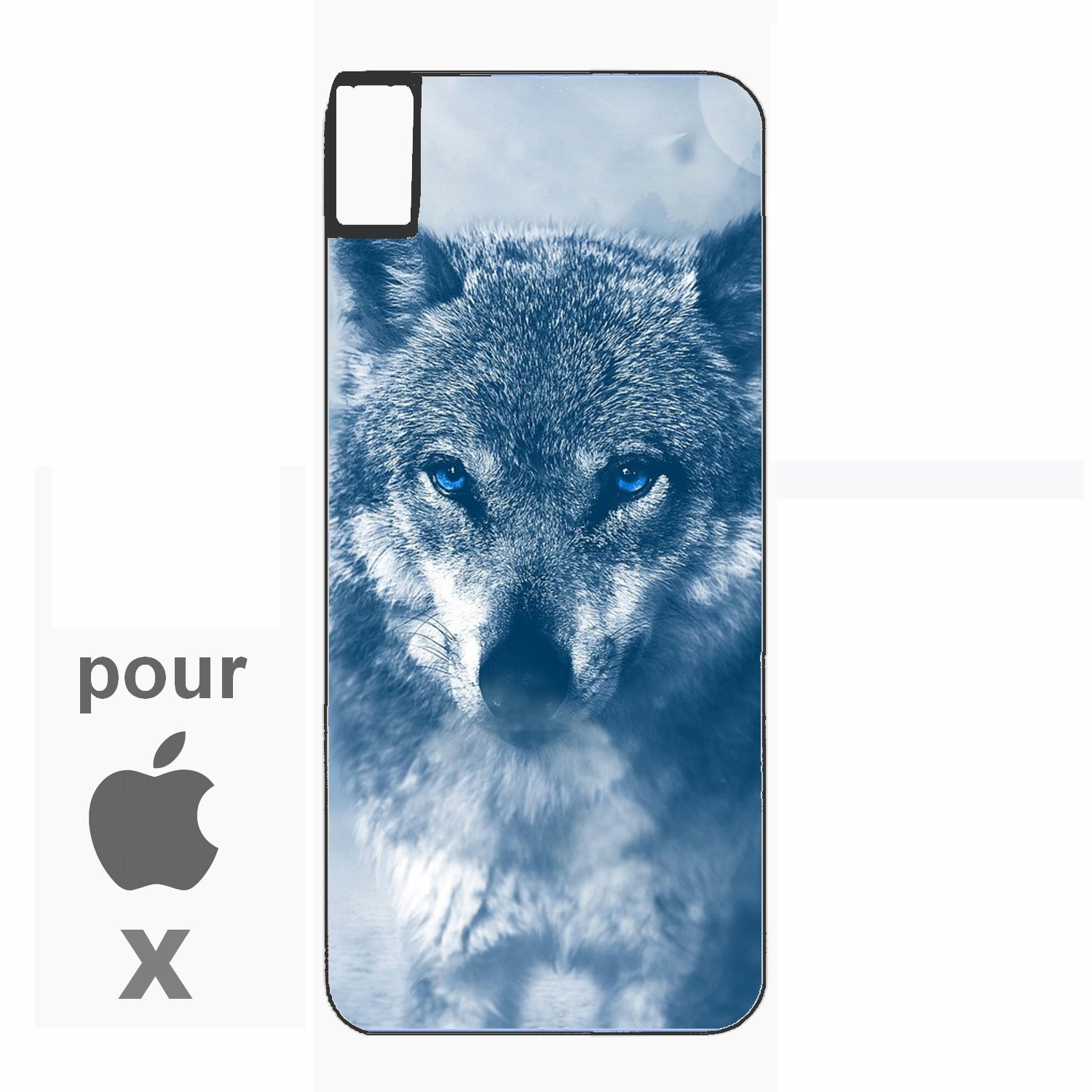 coque animaux silicone iphone x