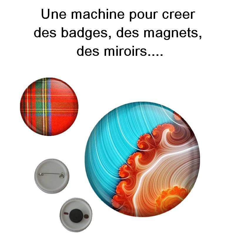 Machine presse badges 25mm cutter 250 badges - Machine pour faire des badges ...
