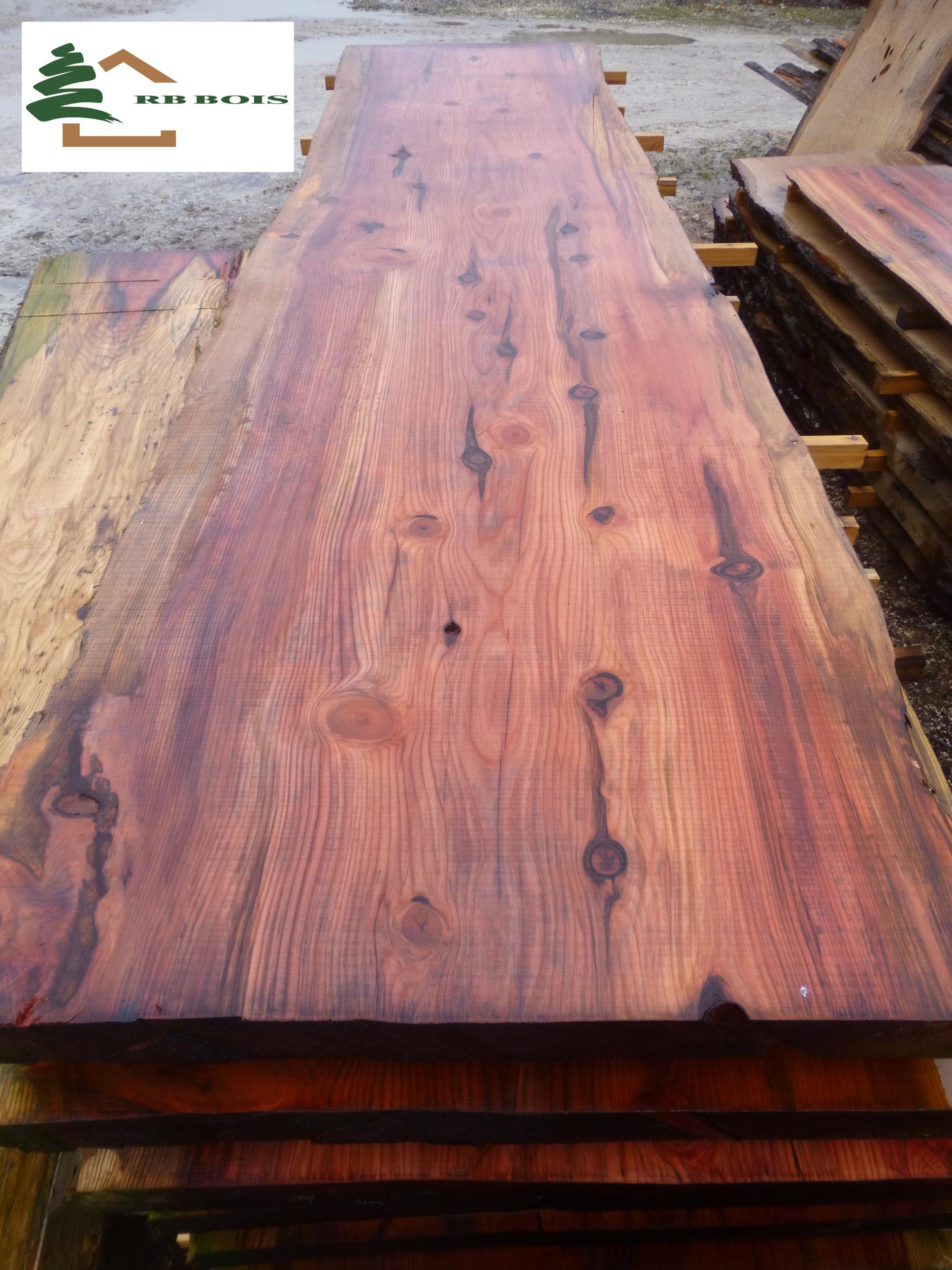 Plateau De Table Bois.Plateau Sequoia Live Edge Ps526b