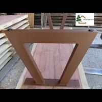 2 pieds metalliques pour table pt1c