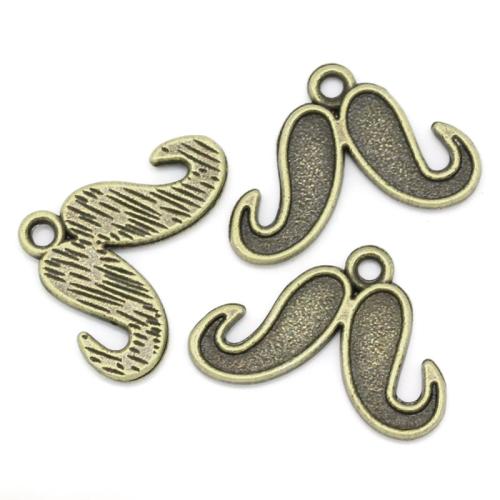 Lot 50 Breloques argent Moustache 9x22mm