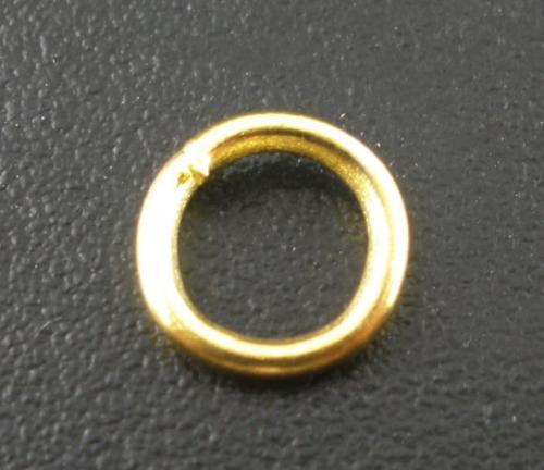 Lot de 100 Anneaux brisés 6mm métal doré