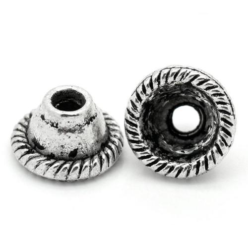 Lot de 12 Coupelles cônes en métal argenté 8mm