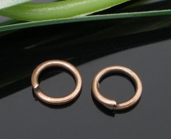 Lot de 100 anneaux cuivre rouge 6 mm