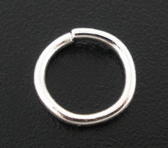 100 Anneaux brisés 8mm métal argenté