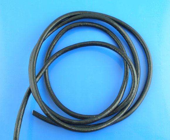 Un mètre de cordon en cuir véritable de 4 mm