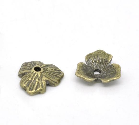 Lot de 10 Coupelles11x10mm en métal couleur bronze