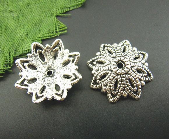 Lot de 10 Coupelles en métal argentés 16mm
