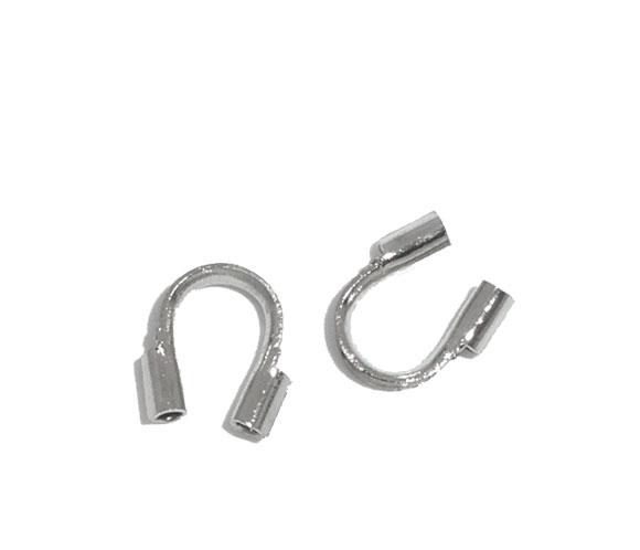 Lot de 24 protège-câble pour fil câblé, métal argenté 5mm