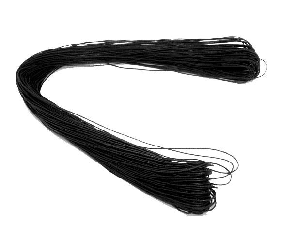 Echeveau de 80 mètres Fil coton ciré noir 1mm