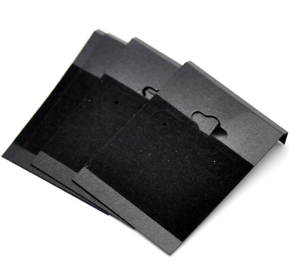 Lot de 10 présentoirs ou supports pour boucles d\'oreilles, en plastique noir