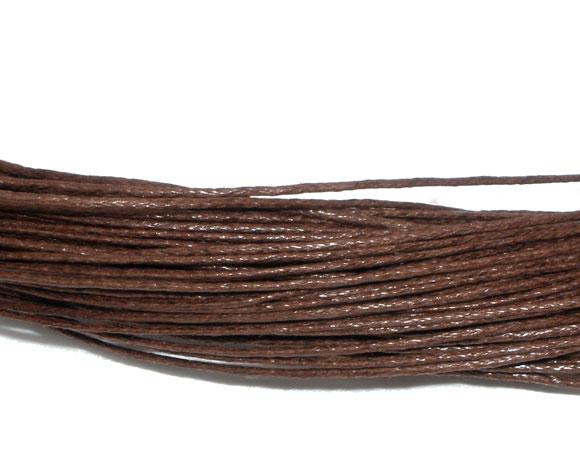 Fil  de coton ciré couleur café vendu par 1 mètre