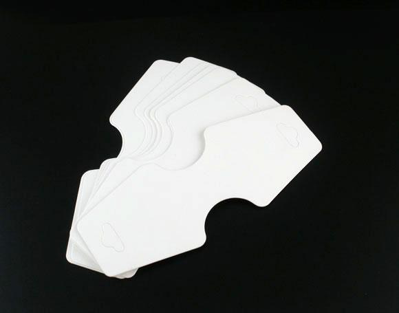 Lot de 10 présentoirs supports en papier blanc pour bracelets ou colliers