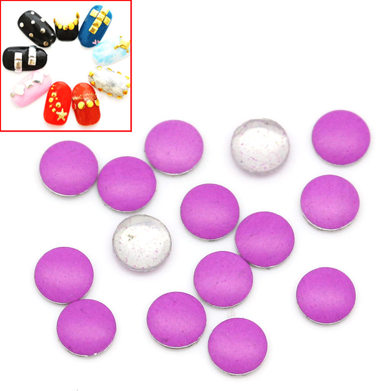 Lot de 100 Strass rond thermocollant rose violet 2mm