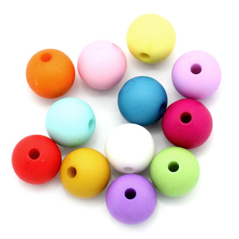 Lot  de 30 perles en acrylique 10mm