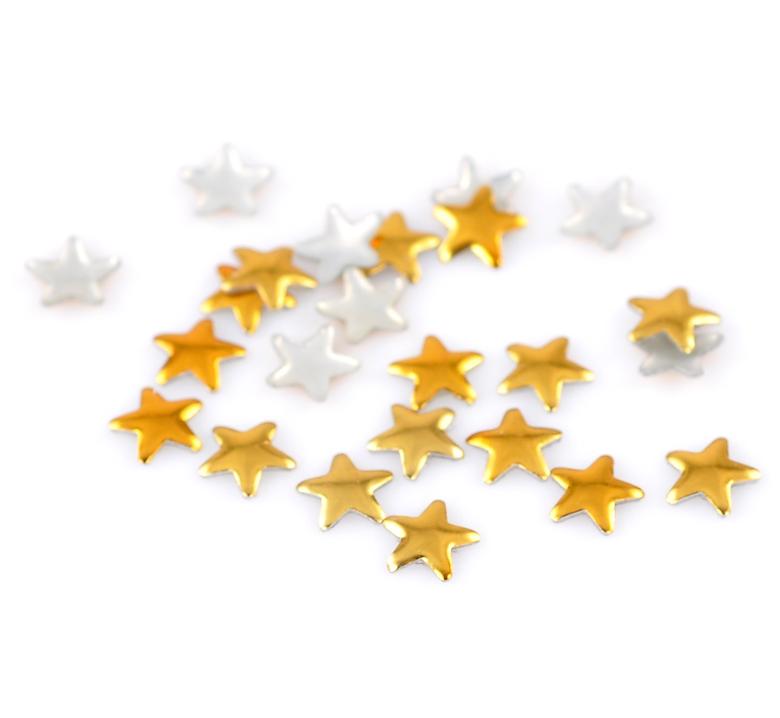 Lot de 100 Strass étoile thermocollants ou clous à coller