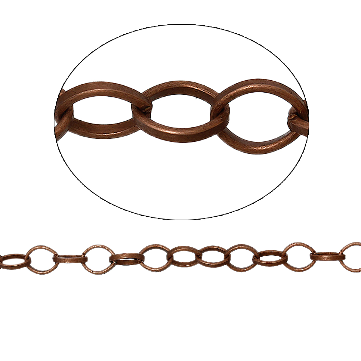 Un mettre de Chaîne à maille fantaisie en métal couleur cuivre rouge antique