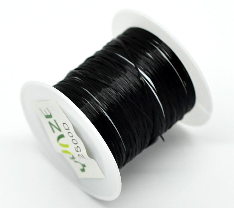 Une bobine fil élastique noir 10 mètres