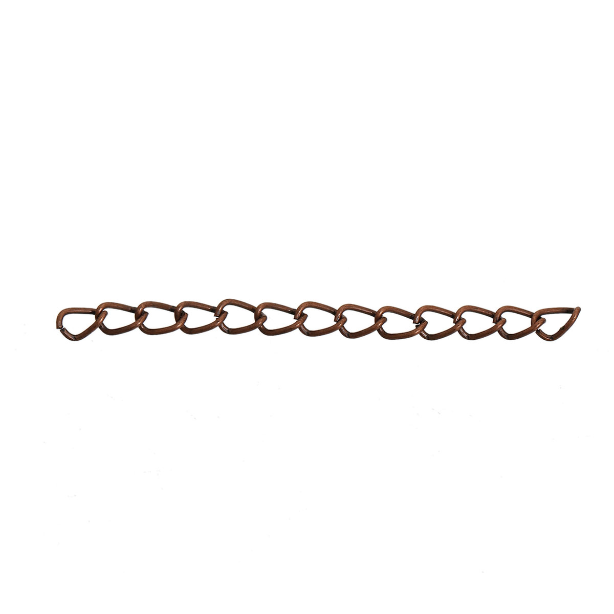 Lot de 20 Chaînes Extension cuivrées mailles cheval pour Collier ou Bracelet