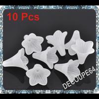 Lot de 10 Perles fleur acrylique 22x22mm