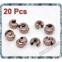Cache de 5 mm pour perle à écraser métal couleur cuivre Lot de 20