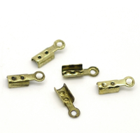 Lot de 40 Attaches Embouts bronze cordes cuirs 8x3mm