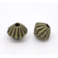 Lot de 30 Perles bicone en métal couleur bronze 5mm