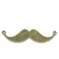 Lot de 4 Connecteurs moustache métal couleur bronze 49x12mm