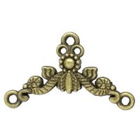 Lot de 8 Connecteurs métal couleur bronze 26x15mm
