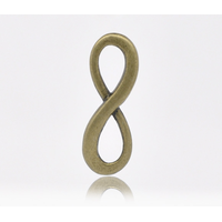 Lot de 4 Connecteurs infinity métal couleur bronze 23x8mm