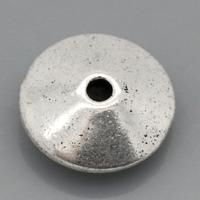 Lot de 10 Perles rondelles lisse en métal argenté 11mm