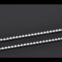 1 mètre de chaine en métal argenté boule 1.5mm