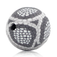 Lot de 10 perles en argile polymère Fumée girs 10mm