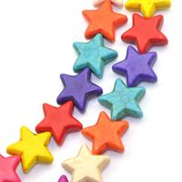 Lot de 4 perles étoile en howlite couleurs au choix 21mm x 20mm PP19
