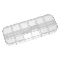 Boite de rangement transparente vide 12 compartiments en acrylique 13cm x 5cm x 1.5cm