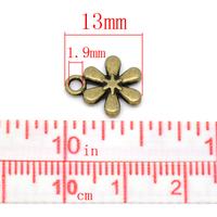 Lot de 10 pendentifs étoile bronze 13x11mm