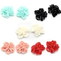 Lot de 10 fleurs en résine couleur pastel  Embellissements 3 Fleurs en Résine 16x16mm