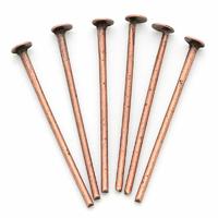 Lot de 100 clous jonction tête plate 21x0.7mm lot de 100 tiges métal cuivre antique