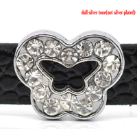 Perle  Papillon Strass pour Bracelet