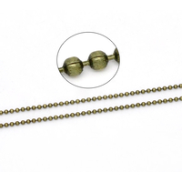 Chaîne Maille Boule Couleur bronze 1.5mm