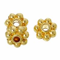 Lot de 50 perles intercalaires, rondelles, dorées Forme Fleur Doré 5.0mm x 5.0mm