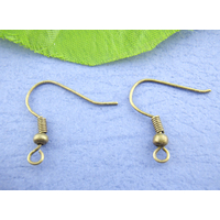 Lot de 50 crochets Supports Boucles d'oreilles métal bronze