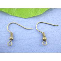Lot de 50 crochets Supports Boucles d'oreilles métal bronze
