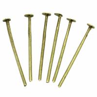 Lot de 100 clous jonction tête plate 18x0.8mm métal bronze